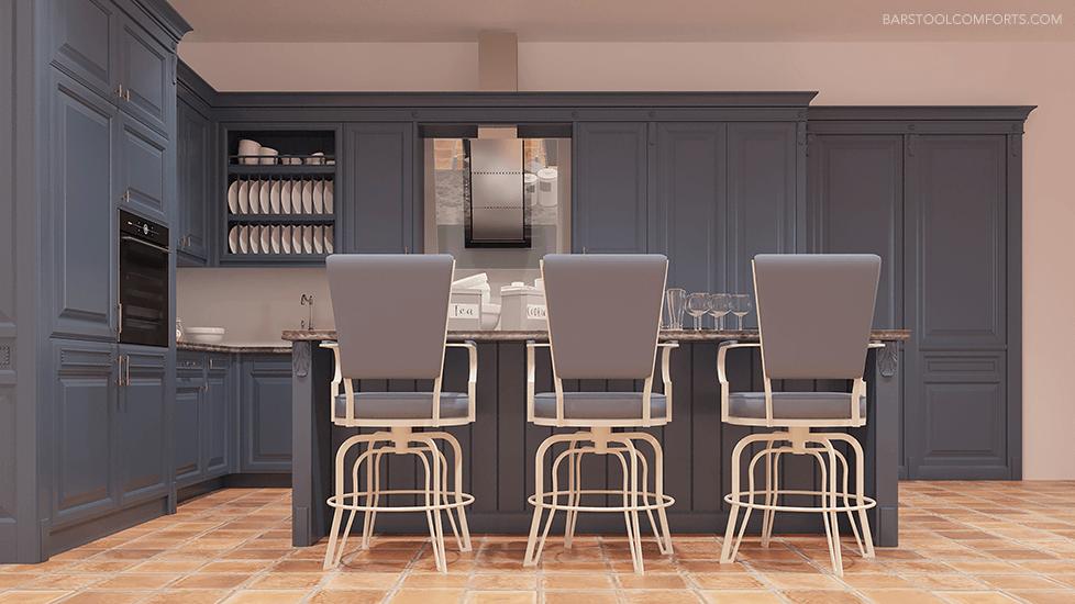 #2545 Tilt Swivel Bar Stool in Transitional Luxury Kitchen