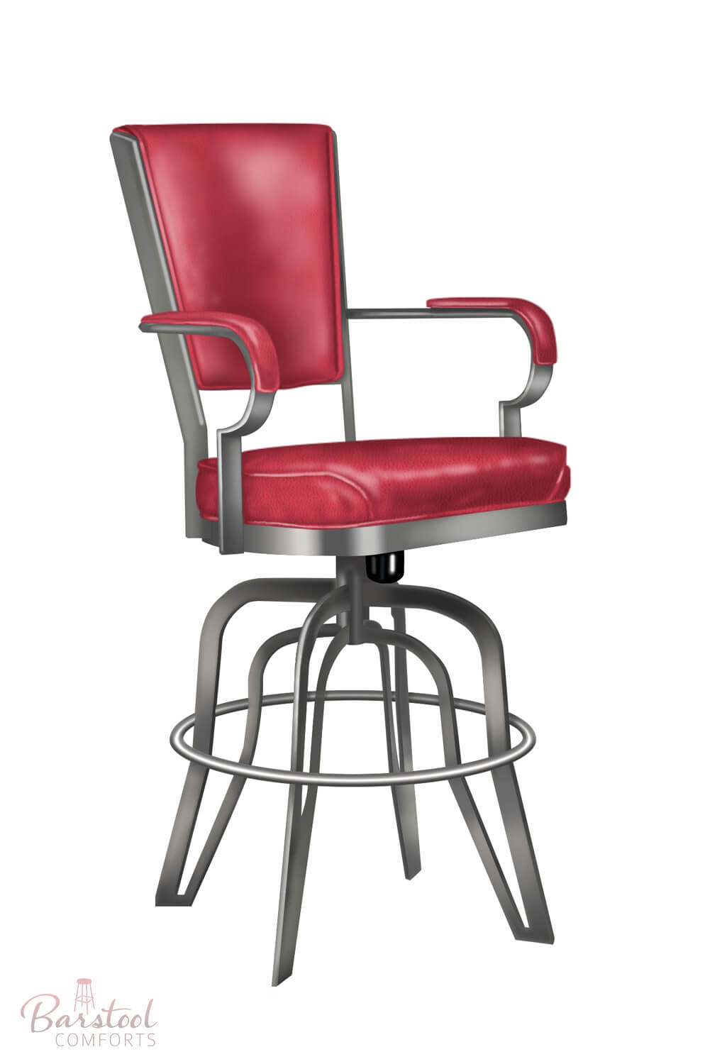 Lisa Furniture S 2545 Rocking Swivel Bar Stool Free