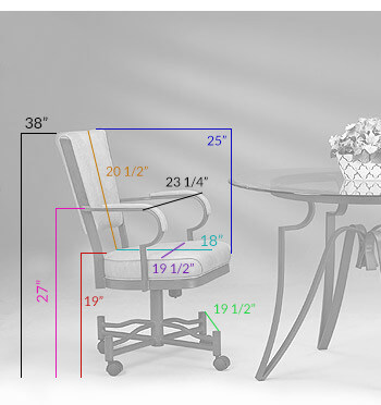 #845 Tilt Swivel Chair Dimensions