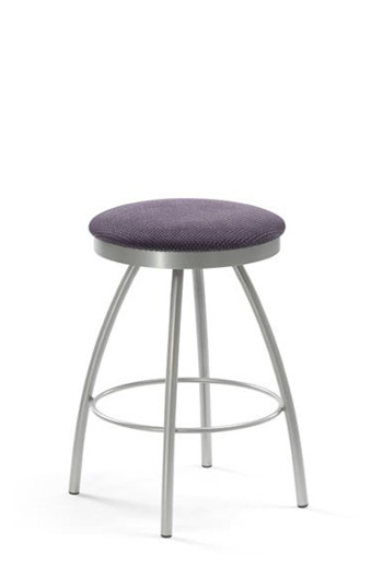 Trica Adam Backless Swivel Vanity Chair W Upholstered