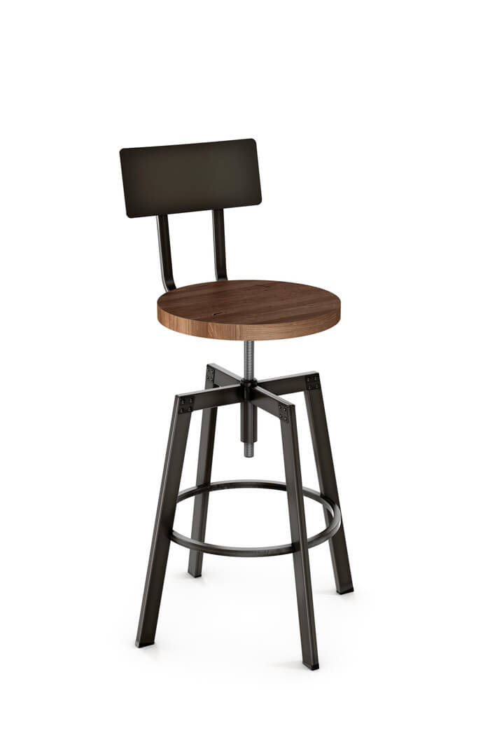 Sensational Architect Adjustable Screw Stool With Metal Back Gmtry Best Dining Table And Chair Ideas Images Gmtryco