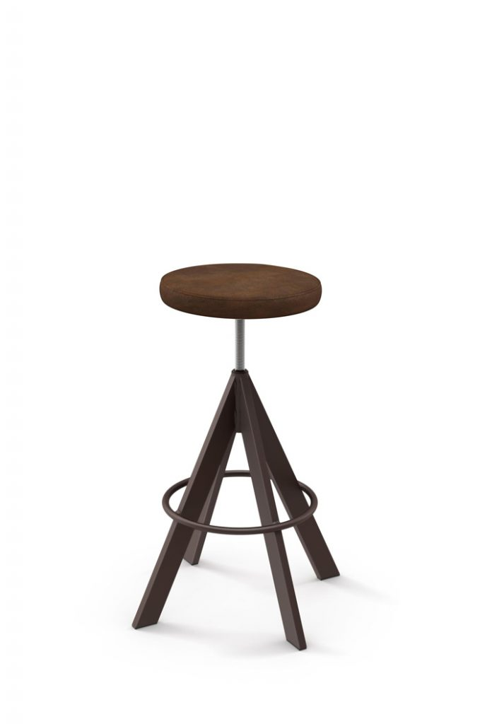 Amisco's Backless Architect Adjustable Stool in Seat Cushion