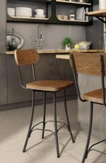 Amisco Bean Swivel Stool in Industrial Kitchen