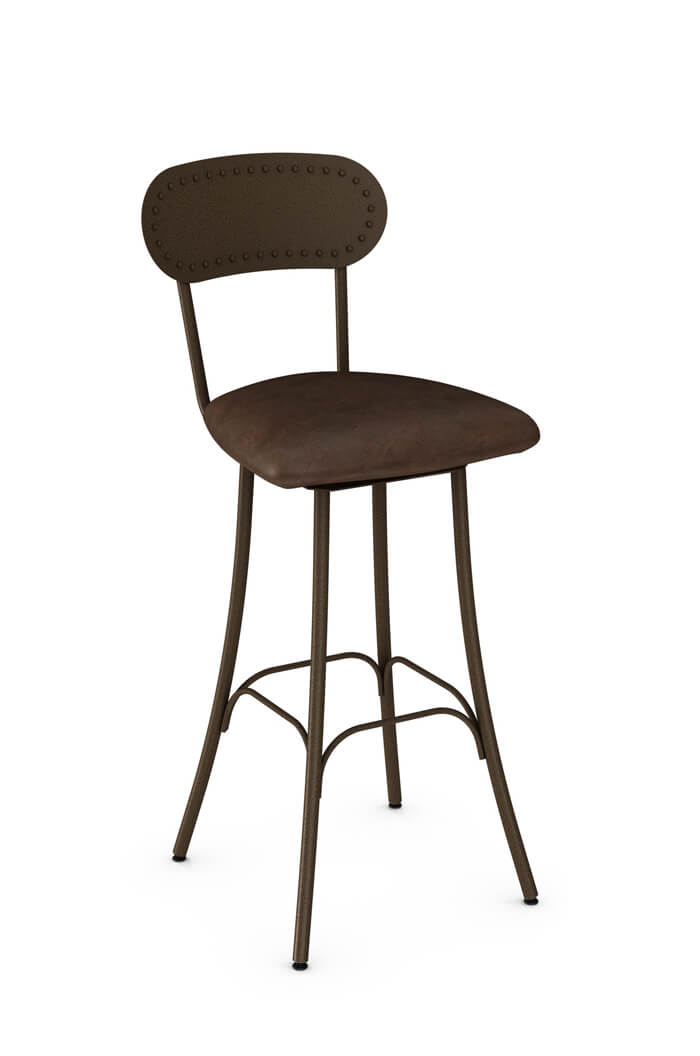 Amisco Bean Swivel Stool W Seat Cushion Industrial