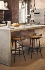 Amisco Bluffton Swivel Stool in a Kitchen