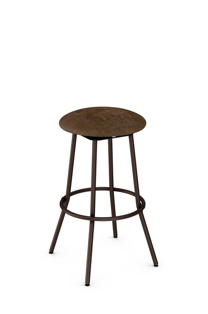Amisco Bluffton Backless Swivel Stool with Seat Cushion