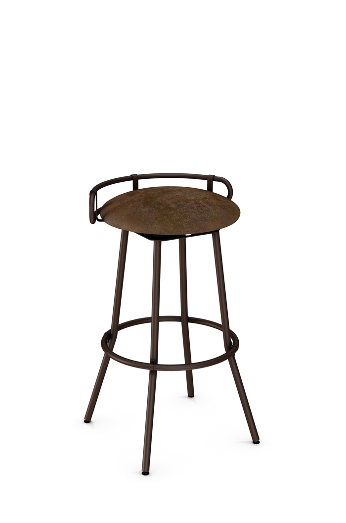 Amisco Bluffton Swivel Stool with Short Back