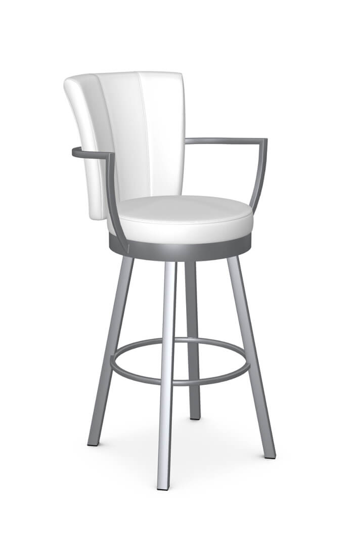 Picture of: Buy Amisco S Cardin Upholstered Swivel Stool W Arms Free Shipping