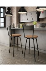 Amisco Crystal Swivel Stool in Modern Industrial Kitchen