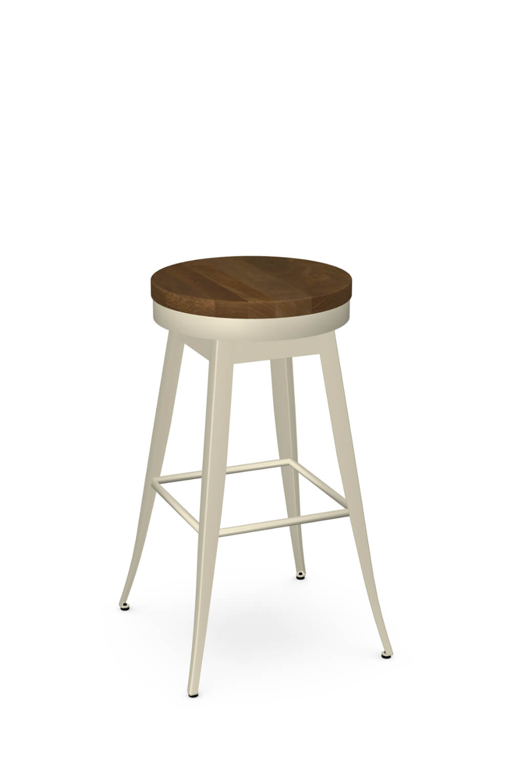 Grace Swivel Stool with Wood Seat