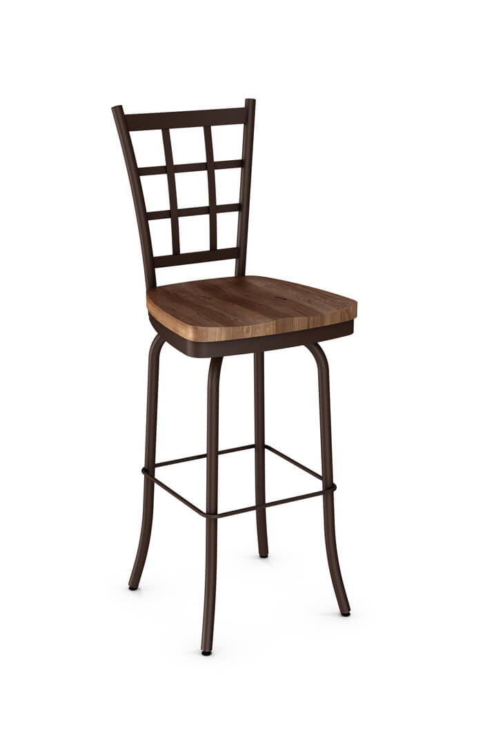 Amisco S Jamie Swivel Stool Wood Seat 41469