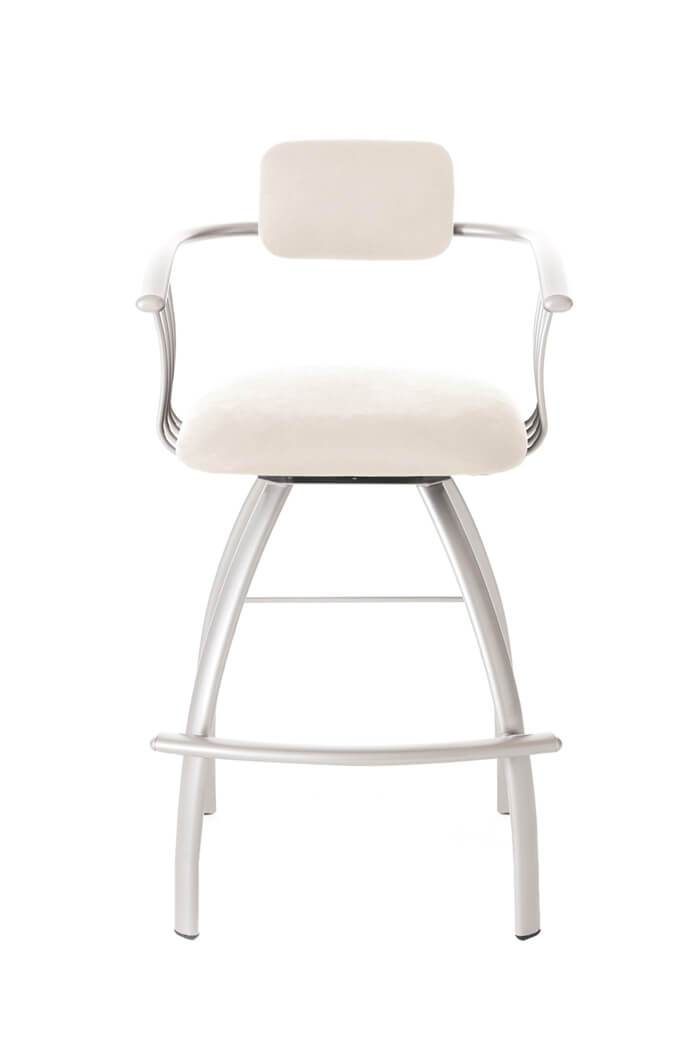 Amisco Kris Modern Swivel Barstool with Arms
