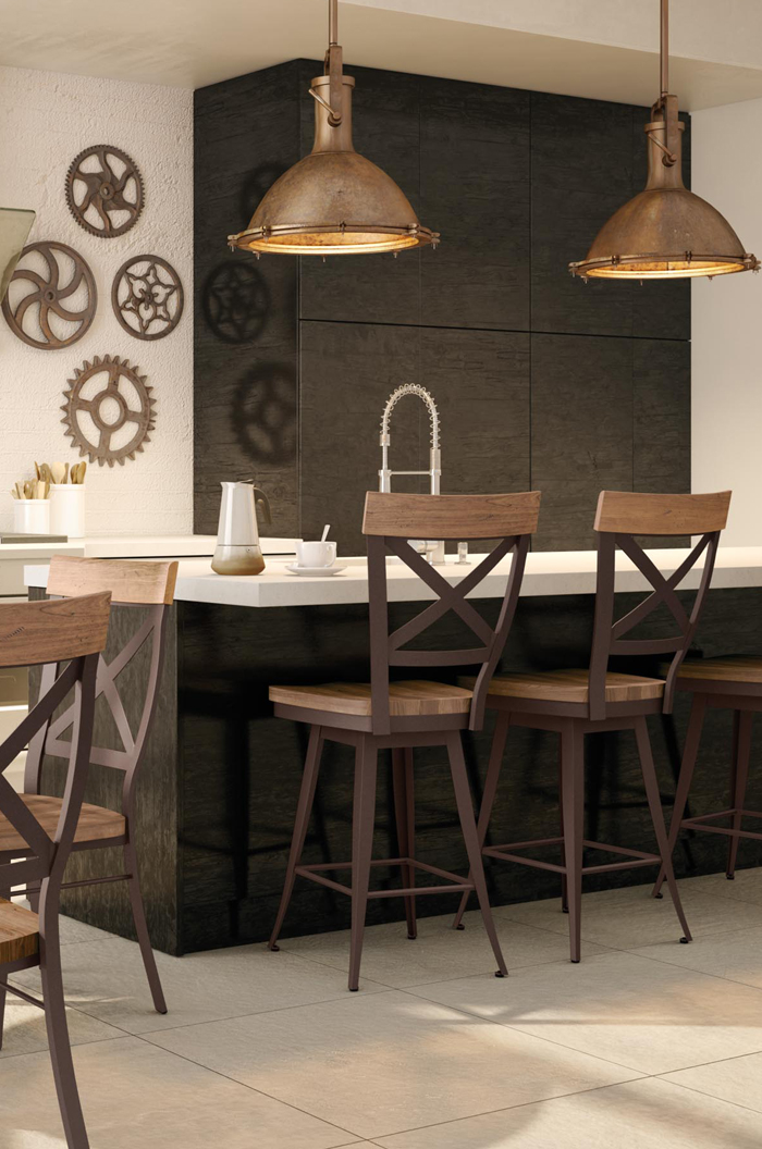 Kitchen Bar Stools Wood And Metal