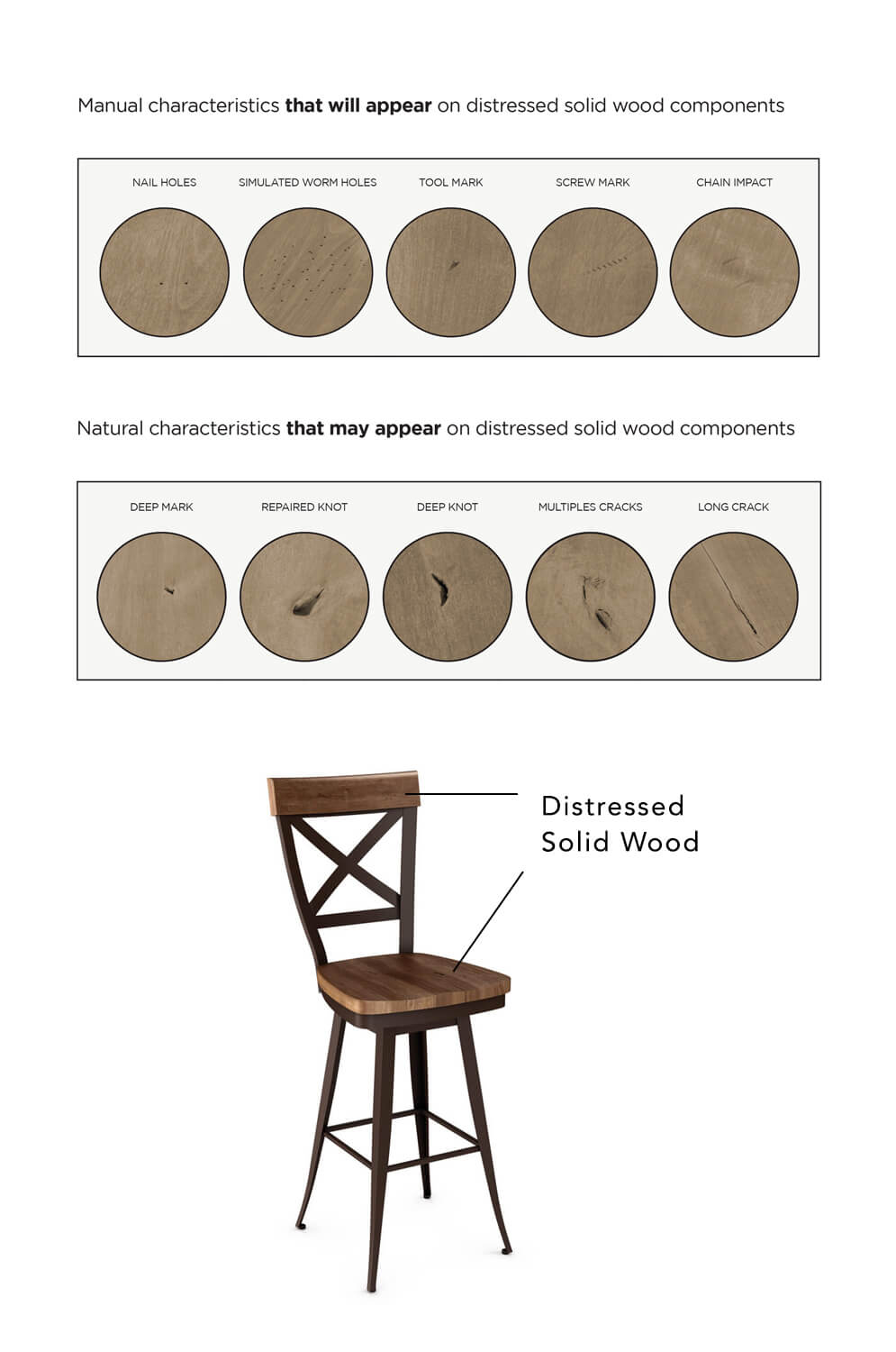 Super Kyle Swivel Stool With Distressed Wood Seat Bralicious Painted Fabric Chair Ideas Braliciousco