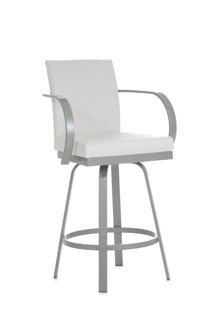 Amisco's Lance Swivel Barstool with Curved Arms