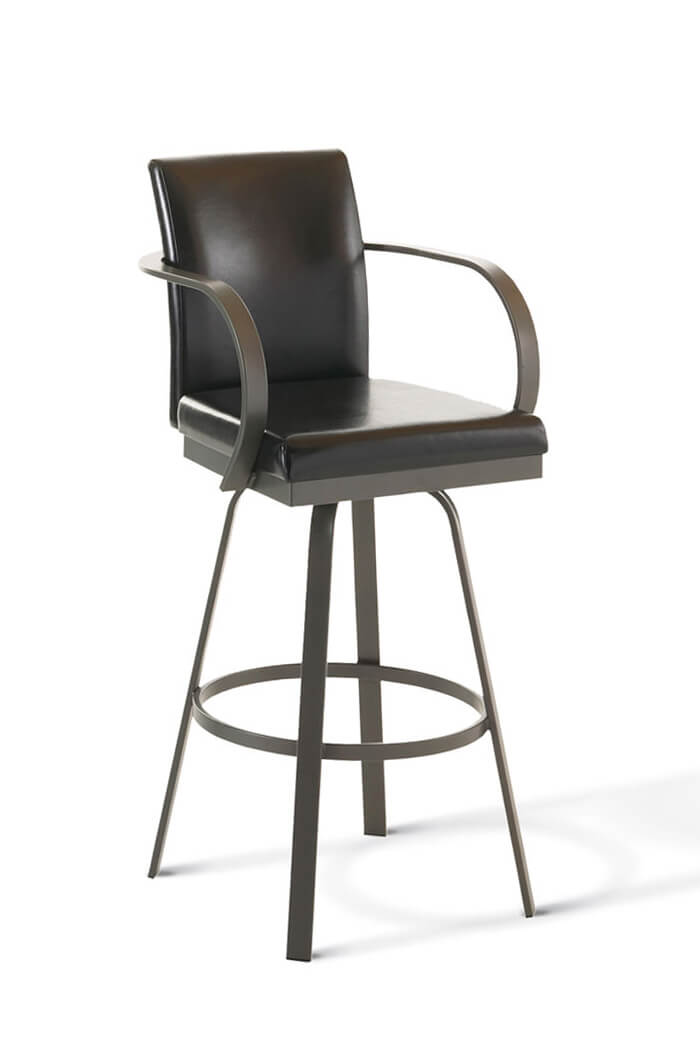 Amisco Lance Swivel Stool W Arms And Tall Back Free