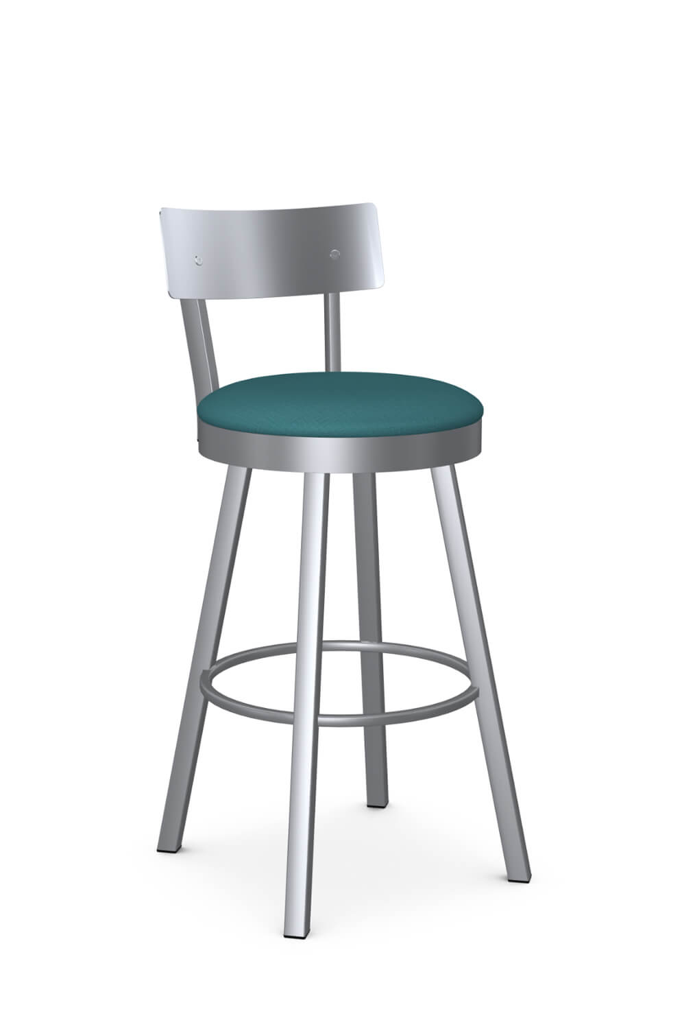 Lauren Swivel Stool with Stainless Steel Backrest