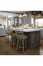 Amisco Momentum Swivel Stool for Country Cottage Kitchens