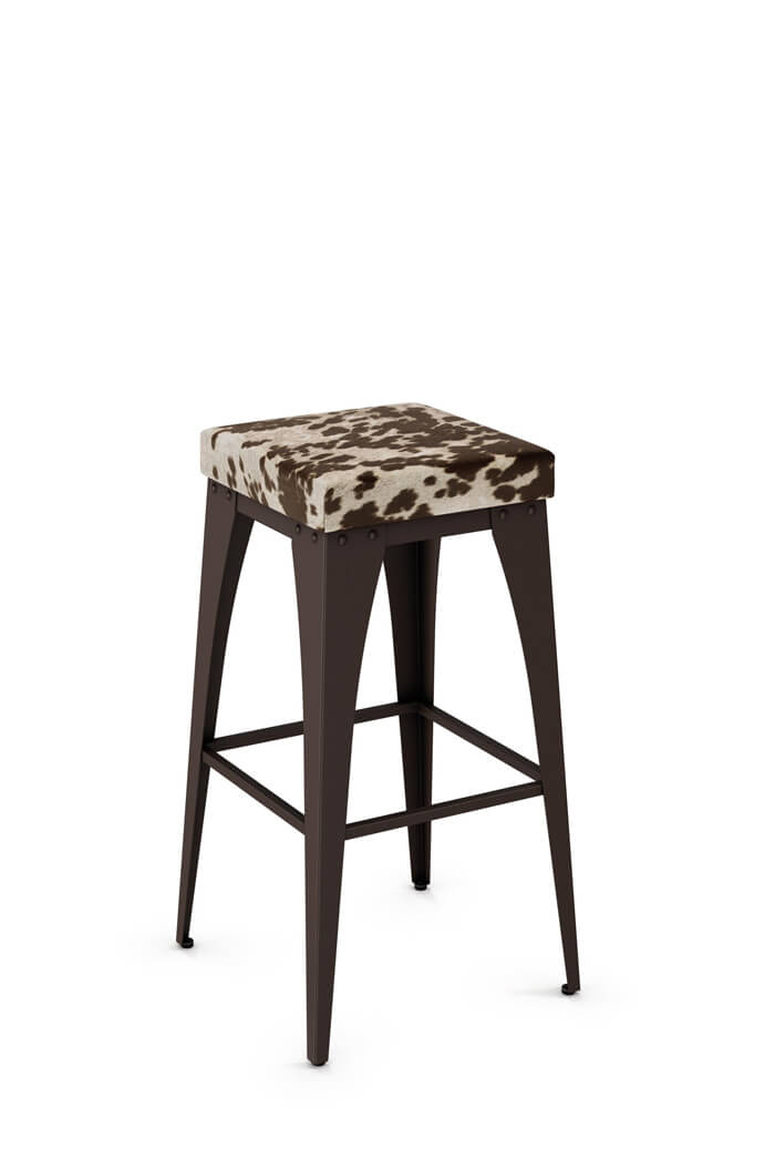 Amisco Upright Tabouret Backless Stool with Seat Cushion