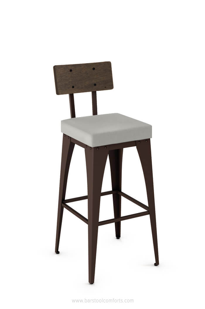 Surprising Upright Industrial Stool With Seat Cushion Ibusinesslaw Wood Chair Design Ideas Ibusinesslaworg