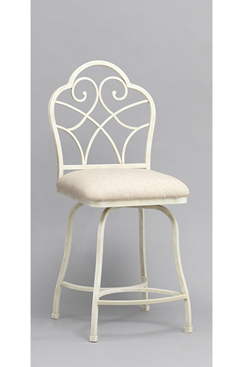 Anderson Counter Swivel Stool in Ivory White Color