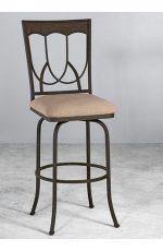 Metal Finish: Aged Rust • Seat Fabric: Loft Burlap