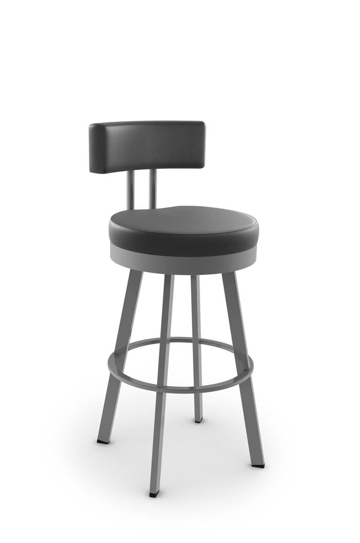 Amisco Barry Swivel Stool with Low Back