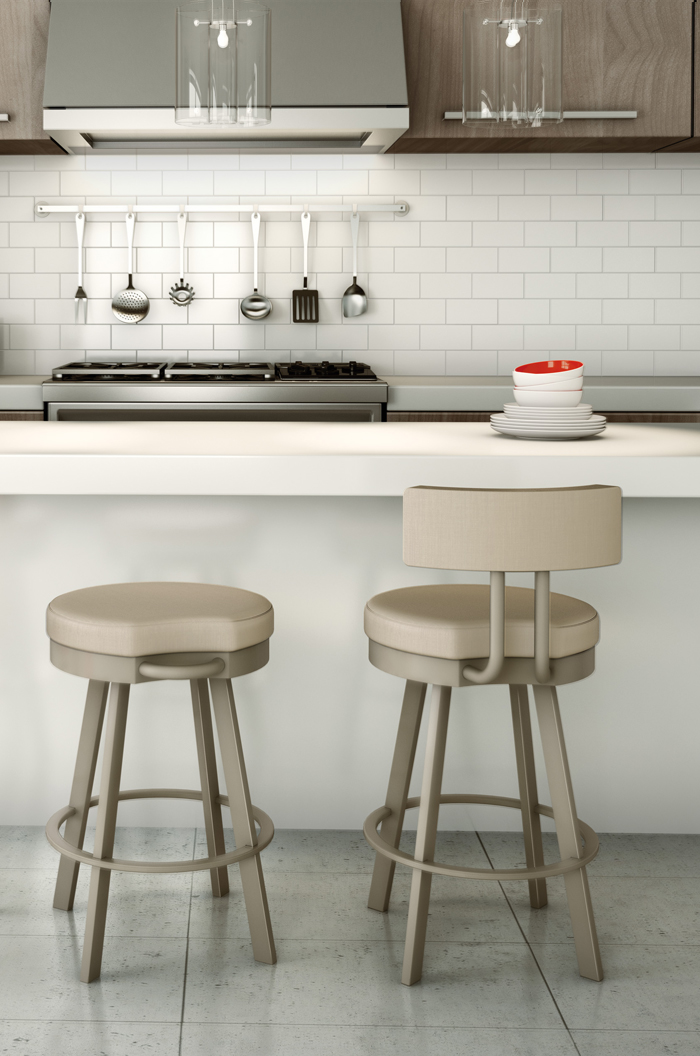 Amisco Barry Swivel Stool For Modern Kitchens Free Shipping
