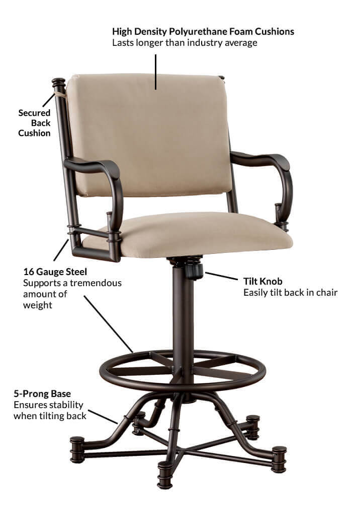 Buy Callee Burnet Swivel Reclining Bar Stool Free Shipping