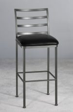 Metal Finish: Pewter • Seat Fabric: Cantina Black