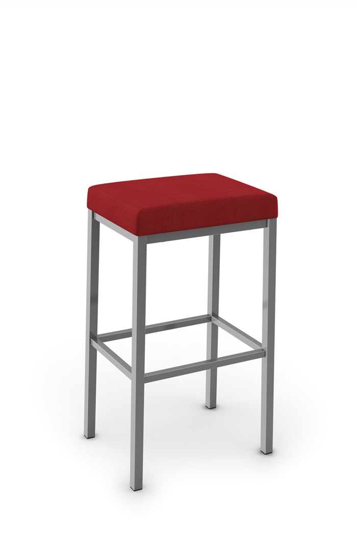 Amisco Bradley Non-Swivel Stool with Seat Cushion