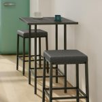 Amisco's Bradley Backless Stool in Small Kitchen