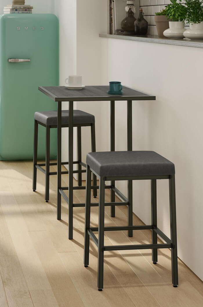 Amisco S Bradley Narrow Depth Backless Modern Stool Free