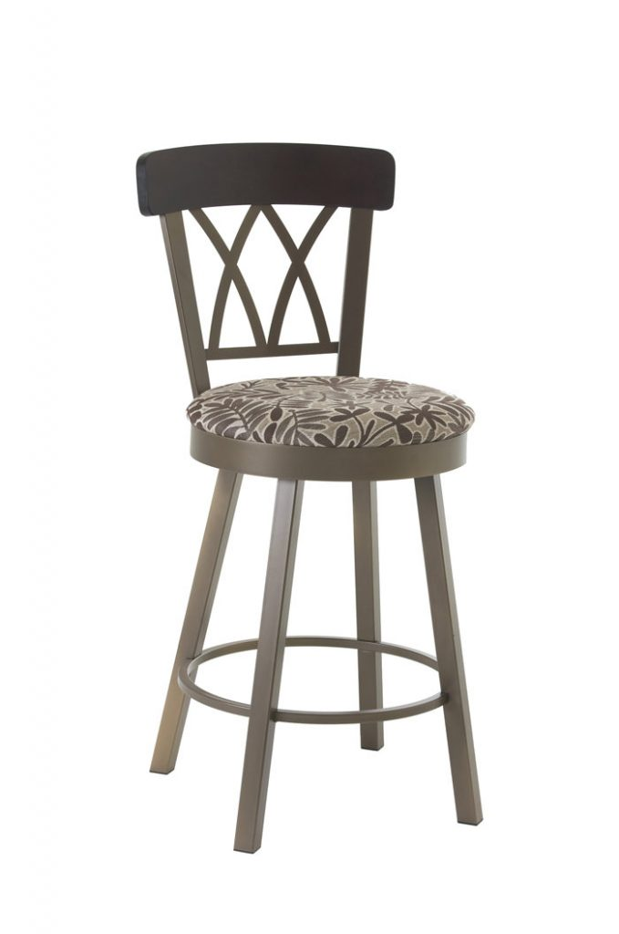 Brittany Swivel Stool with Cross Back Design
