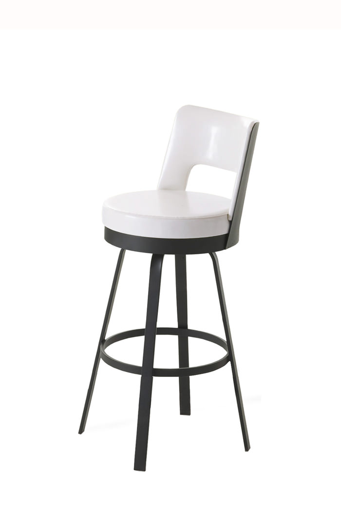 Amisco Brock Swivel Stool with Low Back