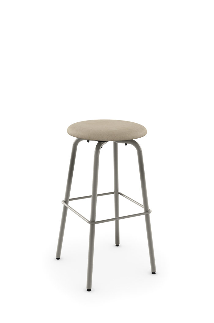 Amisco S Button Compact Backless Swivel Counter Stool