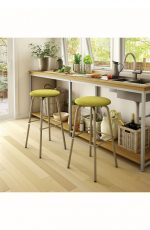 Amisco Button Swivel Stool in Kitchen