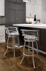 Callee Barrel Swivel Stool with Low Back in Modern Kitchen