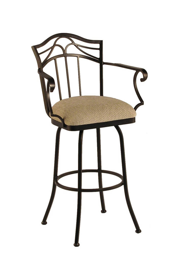 Callee Berkeley Swivel Bar Stool With Arms And Tall Back Video