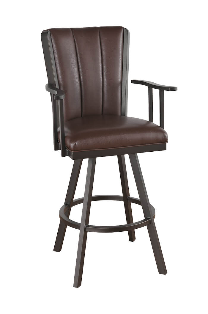 Remarkable Bogart Flex Swivel Bar Stool With Arms Short Links Chair Design For Home Short Linksinfo