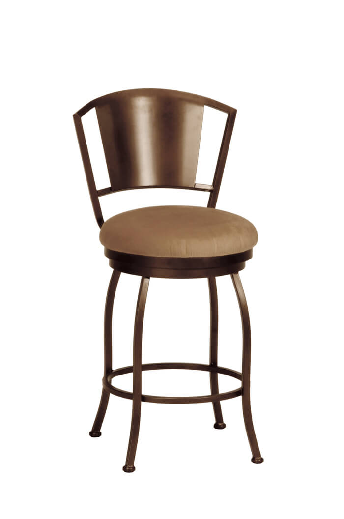Callee bristol swivel barstool metal modern stool free for Counter stools with backs