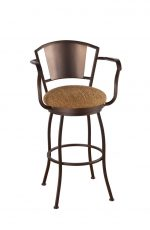 Callee Bristol Swivel Stool with Metal Back and Arms