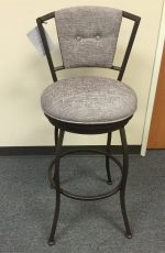 Callee Bristol Swivel Stool with Padded Back for Modern Kitchens