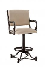 Callee Burnet Swivel Stool with Arms
