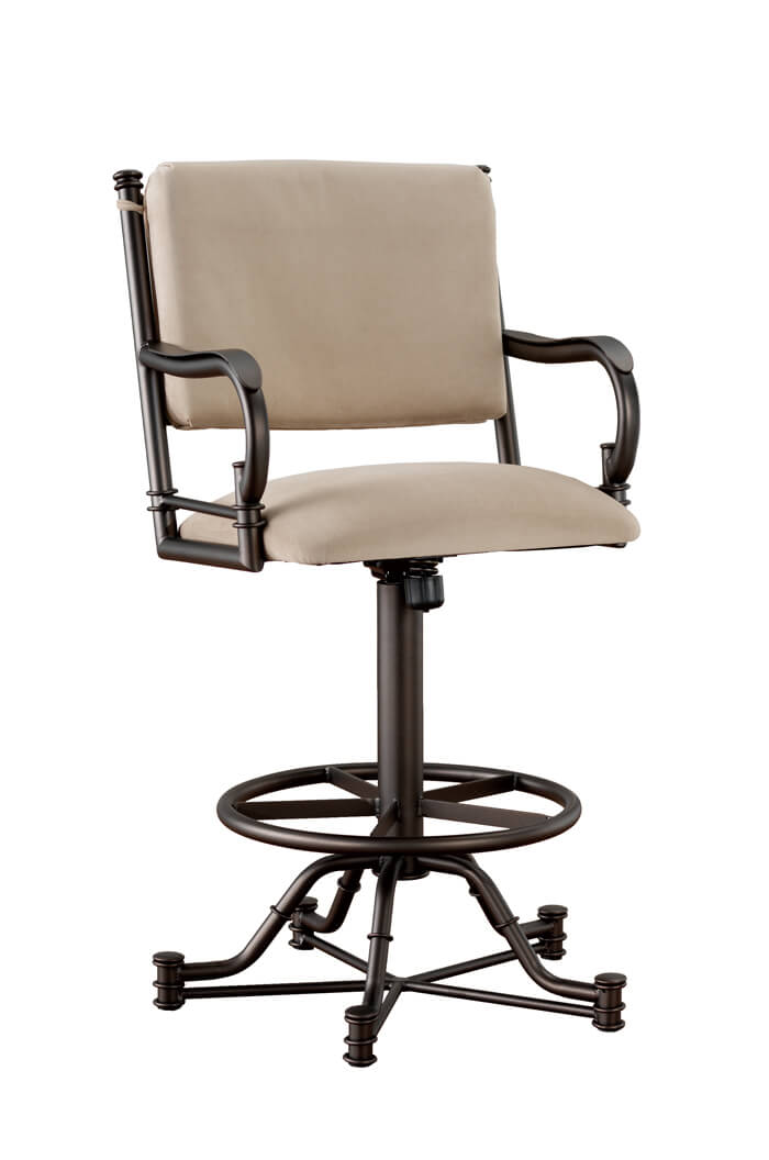 Callee Burnet Tilt Swivel Stool W Arms Recline Back