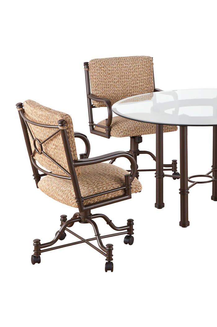Callee Burnet Swivel Dining Chairs Tilt Recline Back
