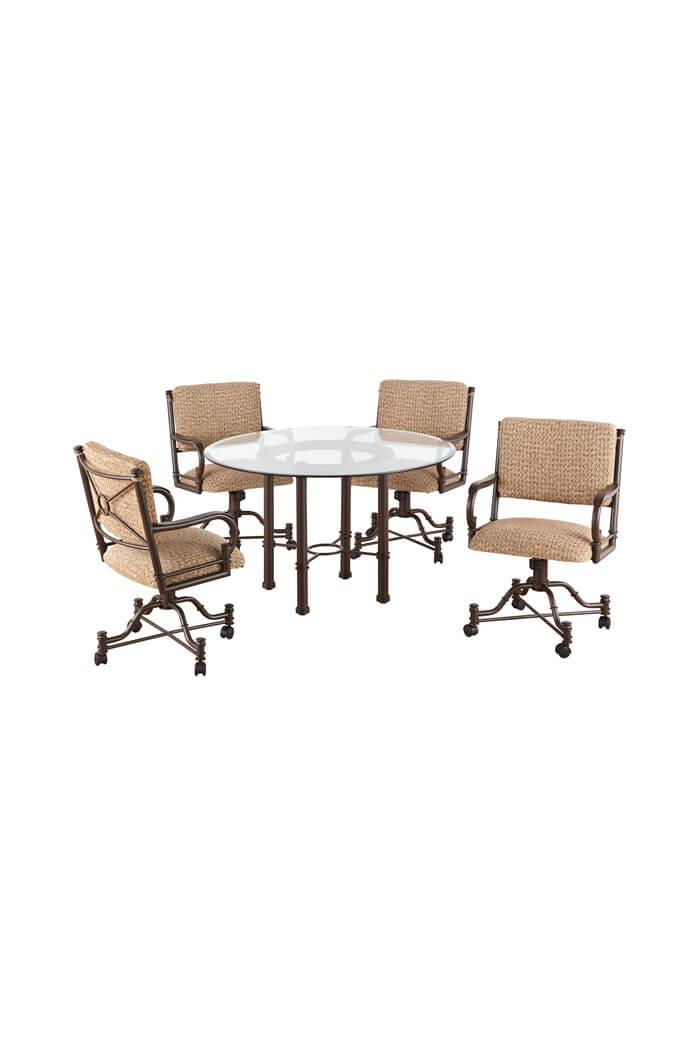 Callee Burnet Swivel Dining Chairs Tilt Recline Back