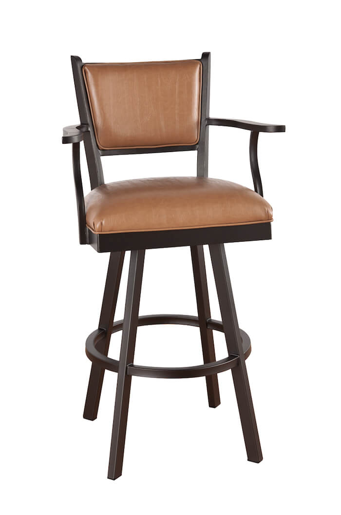Callee Carolina Metal Swivel Stool Upholstered Seat