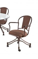 Callee Charleston Tilt Swivel Dining Chairs with Padded Back and Seat