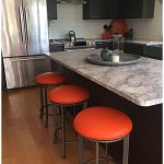 Callee's Chrysler Backless Swivel Counter Stools in Modern Kitchen